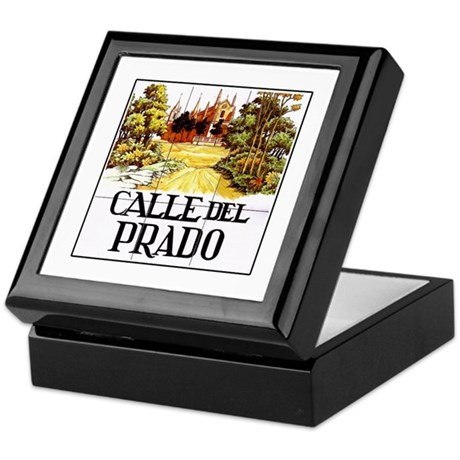 calle del prado madrid spain keepsake box by worldofsigns On calle del prado 6 madrid