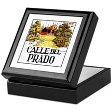 Calle del Prado, Madrid - Spain Keepsake Box