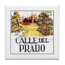 Calle del Prado, Madrid - Spain Tile Coaster