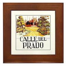 Calle del Prado, Madrid - Spain Framed Tile