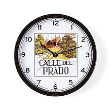 Calle del Prado, Madrid - Spain Wall Clock