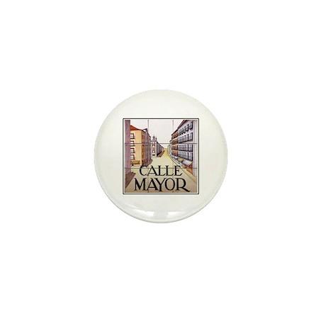 Calle Mayor, Madrid - Spain Mini Button (100 pack)