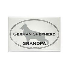 Grm Shepherd GRANDPA Rectangle Magnet