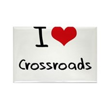I love Crossroads Rectangle Magnet