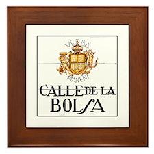 Calle de la Bolsa, Madrid - Spain Framed Tile