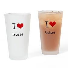 I love Cruises Drinking Glass