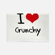 I love Crunchy Rectangle Magnet