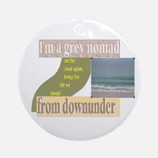 grey nomad on the road again Ornament (Round)