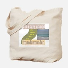 grey nomad on the road again Tote Bag