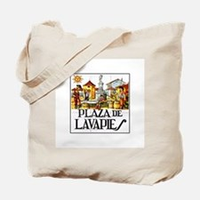 Plaza de Lavapiés, Madrid - Spain Tote Bag