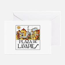 Plaza de Lavapiés, Madrid - Spain Greeting Cards (