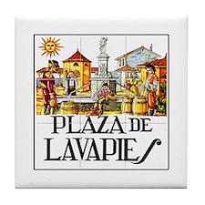 Plaza de Lavapiés, Madrid - Spain Tile Coaster
