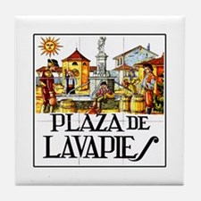 Plaza de Lavapiés, Madrid - Spain Tile Coaster