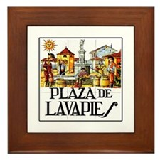 Plaza de Lavapiés, Madrid - Spain Framed Tile
