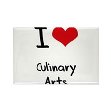I love Culinary Arts Rectangle Magnet