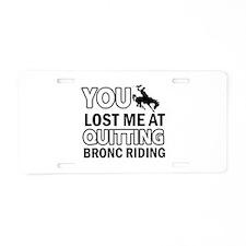 Quirky Bronc Riding designs Aluminum License Plate