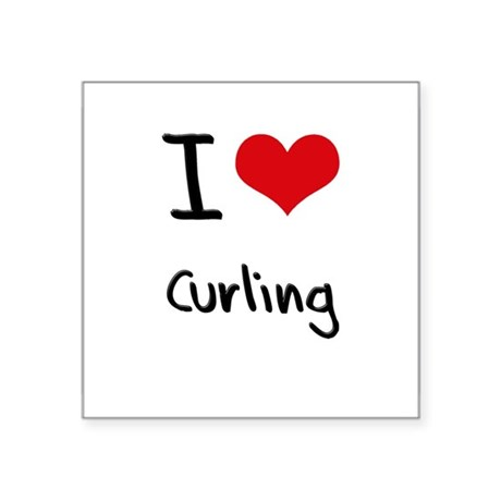 I love Curling Sticker