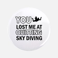 """Quirky Sky Diving designs 3.5"""" Button"""