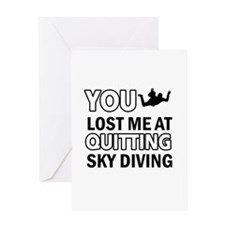 Quirky Sky Diving designs Greeting Card