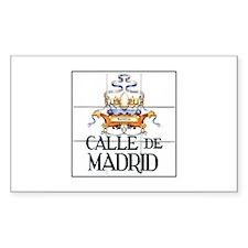 Calle de Madrid, Madrid - Spain Sticker (Rectangul