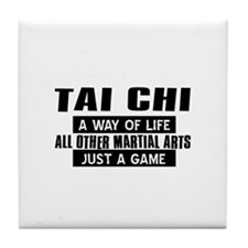 Tai Chi Lovers Designs Tile Coaster