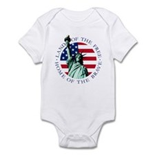 Liberty & American flag Baby Snap T-Shirt