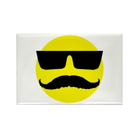 Cool smiley Rectangle Magnet (10 pack)