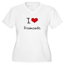 I love Diamonds Plus Size T-Shirt