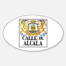 Calle de Alcalá, Madrid - Spain Oval Decal