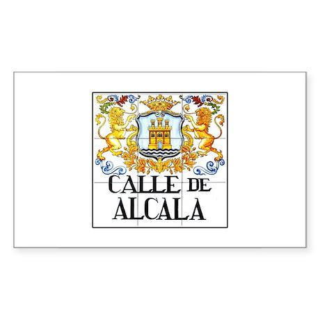Calle de Alcalá, Madrid - Spain Sticker (Rectangul