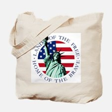 Liberty & American flag Tote Bag
