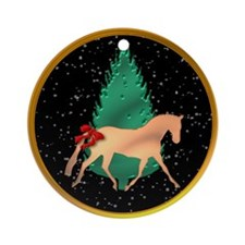 Gold Dressage Ornament (Round)