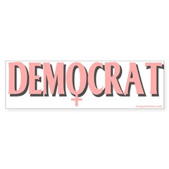 Bumpersticker Female Symbol Democrat