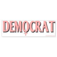 Bumpersticker Female Symbol Democrat