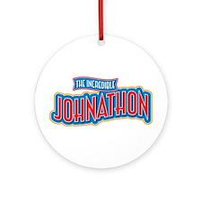 The Incredible Johnathon Ornament (Round)