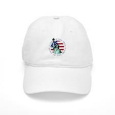 Liberty & American flag Baseball Cap