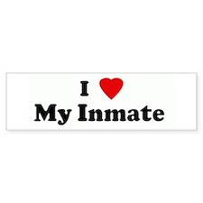 I Love My Inmate Bumper Bumper Sticker