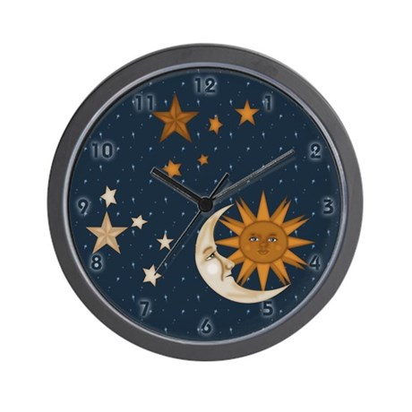 Sun And Moon Clocks Sun And Moon Wall Clocks Large Modern