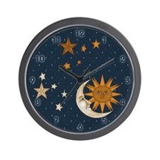 Starry Nite Wall Clock