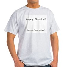 Chanukah Geek Ash Grey T-Shirt