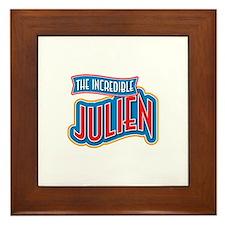 The Incredible Julien Framed Tile