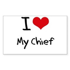 I love My Chief Decal