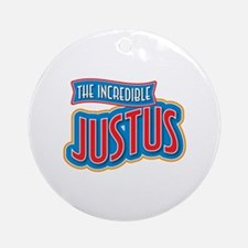 The Incredible Justus Ornament (Round)