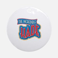 The Incredible Kade Ornament (Round)