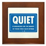 Quiet! Framed Tile