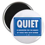 Quiet! Round Magnet