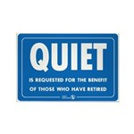 Quiet! Rectangle Magnet (10 pack)