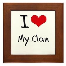 I love My Clan Framed Tile