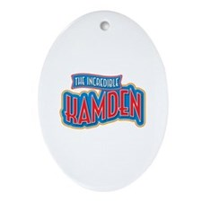 The Incredible Kamden Ornament (Oval)