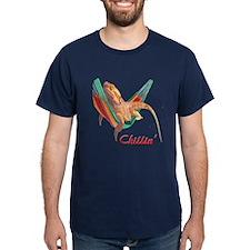 Bearded Dragon Chillin T-Shirt (navy)